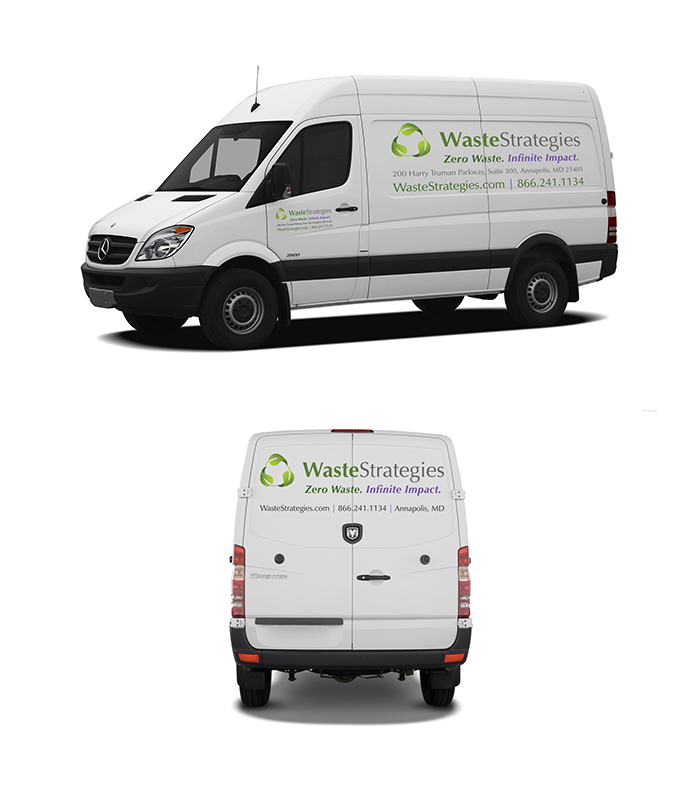 Car or van decal designed for a local waste management company.